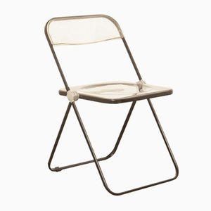 Clear Acrylic Model Pila Folding Chair by Giancarlo Piretti for Castelli / Anonima Castelli, 1960s