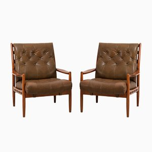Model Läckö Hög Armchairs by Ingemar Thillmark for OPE, 1960s, Set of 2