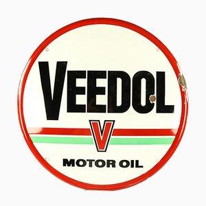 Vintage Motoröl Werbeschild, 1950er