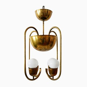 Brass Ceiling Lamp by Hayno Focken for Hayno Focken, 1930s