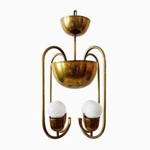 Lampada da soffitto in ottone di Hayno Focken per Hayno Focken, anni '30