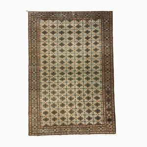 Turkish Hand-Knotted Wool Rug, 1950s