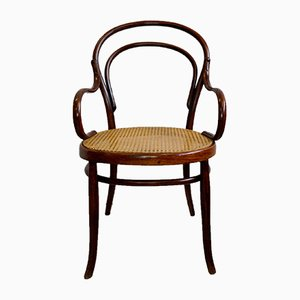 Antique Bentwood and Wicker Armchair, 1910s