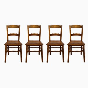Antique Rustic Estonian Dining Chairs from Luterma, 1910s, Set of 4