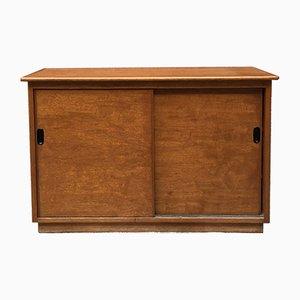 Kleines italienisches Sideboard aus hellem Teak & Kunststoff, 1960er