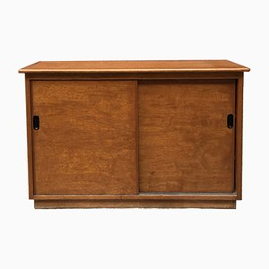 Small Italian Blond Teak and Plastic Sideboard, 1960s