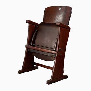 Antique Art Nouveau Folding Cinema Chair, 1910s