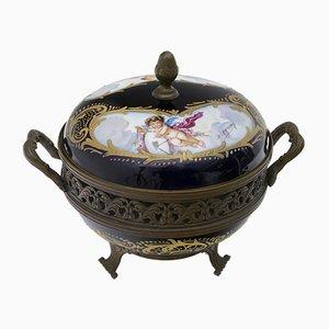 Popurrí francés antiguo de porcelana de Sevres, década de 1880