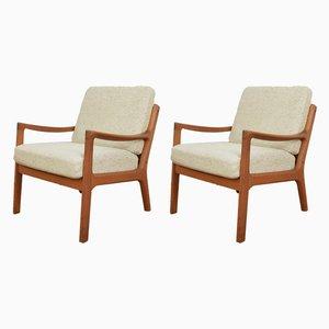 Dänische Senator Armlehnstühle aus Teak von Ole Wanscher für Cado, 1960er, 2er Set