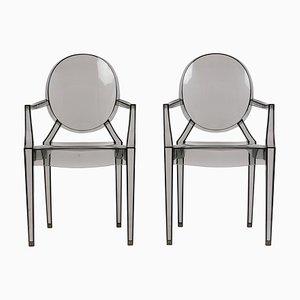 Mid-Century Stühle aus Acryl, 2000er, 2er Set