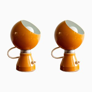 Space Age Italian Magnetic Table Lamps, 1970s, Set of 2