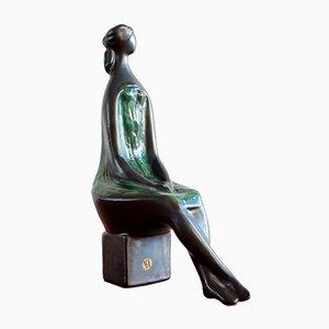 Ceramic Sculpture by Jitka Forejtova for Jihokera Bechyně, 1960s