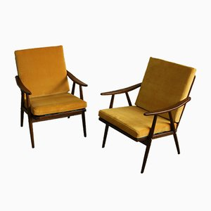 Armchairs from TON, 1950s, Set of 2