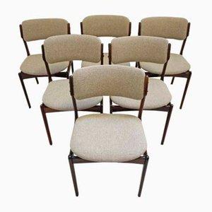 Chaises de Salle à Manger Mid-Century en Palissandre par Erik Buch pour Oddense Maskinsnedkeri / O.D. Møbler, Set de 6
