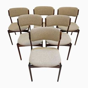 Mid-Century Esszimmerstühle aus Palisander von Erik Buch für Oddense Maskinsnedkeri / O.D. Møbler, 6er Set