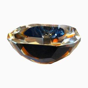 Centro de mesa italiano de cristal de Murano Sommerso de Seguso, años 60