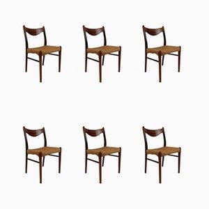 Chaises de Salle à Manger GS61 en Palissandre par Arne Wahl Iversen pour Glyngøre Stolefabrik, 1960s, Set de 6