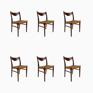 Rosewood GS61 Dining Chairs by Arne Wahl Iversen for Glyngøre Stolefabrik, 1960s, Set of 6