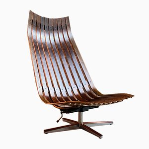 Rosewood Lounge Chair by Hans Brattrud for Georg Eknes, 1970s
