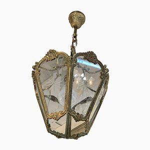 Gilt Bronze and Cut Glass Chandelier, 1960s