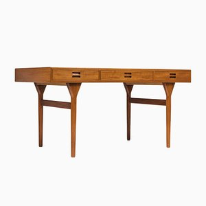 Teak Desk by Nanna Ditzel for Søren Willadsen Møbelfabrik, 1950s