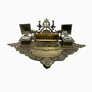 Antique Napoleon III Bronze Inkwell