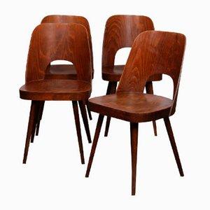 Chaises de Salle à Manger Vintage par Oswald Haerdtl pour TON, 1960s, Set de 4