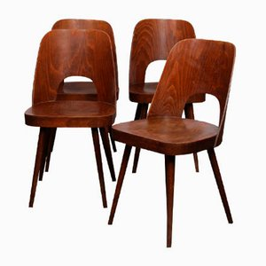 Sedie da pranzo vintage di Oswald Haerdtl per TON, anni '60, set di 4