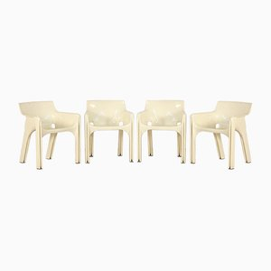 Plastic Lounge Chairs by Vico Magistretti for Artemide, 1970s, Set of 4