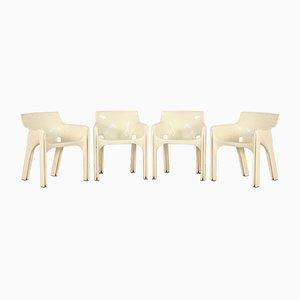 Sessel aus Kunststoff von Vico Magistretti für Artemide, 1970er, 4er Set