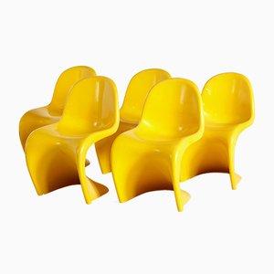 Gelber Vintage Beistellstuhl, 1970er