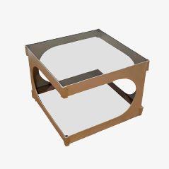 Stainless Steel Coffee Table by Pierre Vandel, 1970s