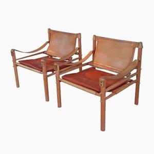 Mid-Century Esszimmerstühle von Arne Norell, 2er Set