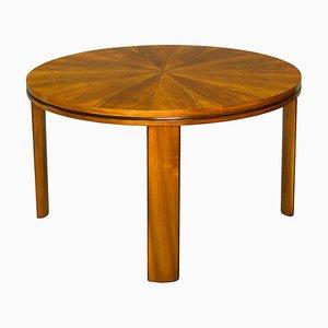 Art Déco Spieltisch aus Nussholz, 1920er