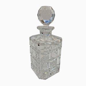 Whiskeykaraffe aus Kristallglas, 1950er
