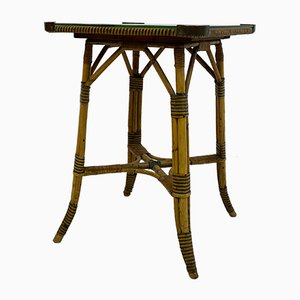 Vintage Bamboo and Brass Side Table, 1920s
