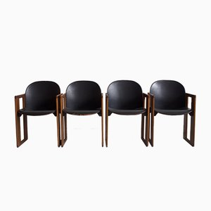 Dining Chairs by Tobia & Afra Scarpa for B&B Italia / C&B Italia, 1970s, Set of 4