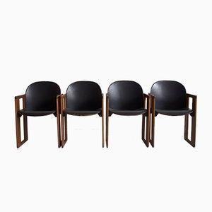 Esszimmerstühle von Tobia & Afra Scarpa für B & B Italia / C & B Italia, 1970er, 4er Set