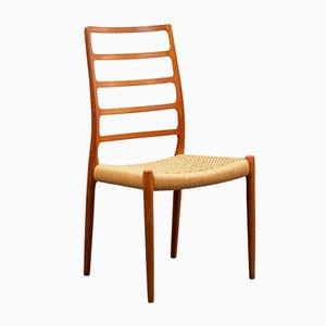 Teak Model 82 Dining Chair by Niels Otto Møller for J.L. Møllers, 1950s