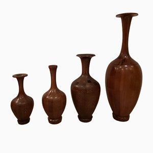 Vintage Vasen von De Coene, 4er Set