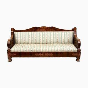 Antikes Sofa mit Gestell aus Mahagoni, 1800er