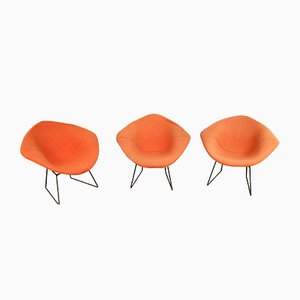 Lounge Chairs by Harry Bertoia for Knoll Inc. / Knoll International, 1960s, Set of 3