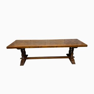 Antique French Oak Monastery Dining Table