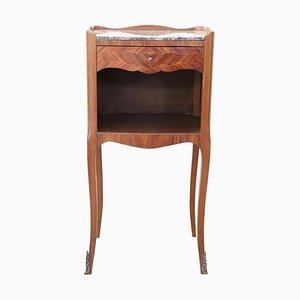 Nachttisch aus Palisander & Marmor, 1930er