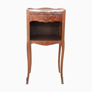 Rosewood and Marble Nightstand, 1930s