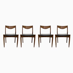 Rosewood Dining Chairs from S.L. Mobler, 1960s, Set of 4
