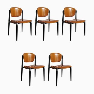 Italian Dining Chairs by Eugenio Gerli for Tecno, 1960s, Set of 5