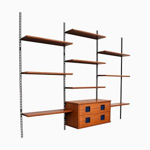 Italian Walnut and Rosewood Wall Unit, 1960s