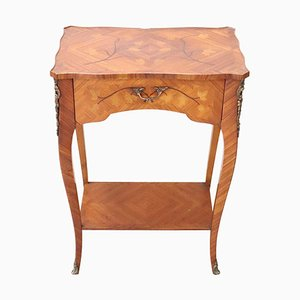 Inlaid Rosewood and Gilded Bronze Side Table, 1930s