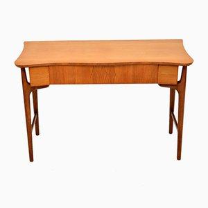 Consola o escritorio de nogal y madera satinada, años 60